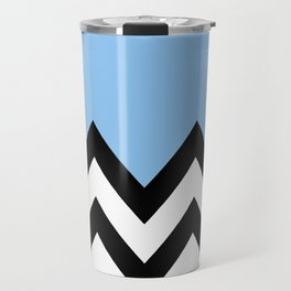 BLUE COLORBLOCK CHEVRON Travel Mug