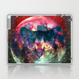 Sir Parker, Cat in The Moon  Laptop & iPad Skin