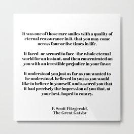 Fitzgerald quote Metal Print