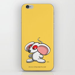 White mouse iPhone Skin