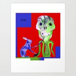 The Serpent, the Sun & Me (II) Art Print