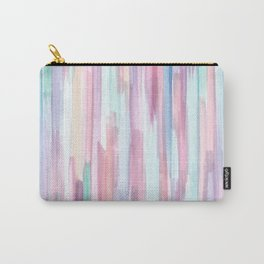 Colorful Watercolor Abstract Pattern Carry-All Pouch