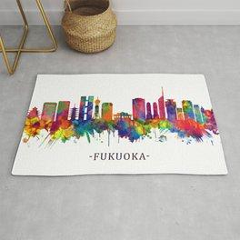 Fukuoka Japan Skyline Rug