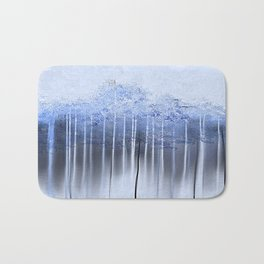 Shredded Abstract in Blue Bath Mat