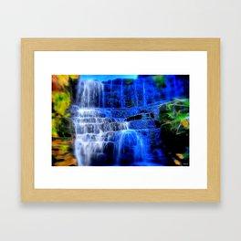 White Coppice Falls Framed Art Print