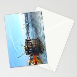 Oil Rig Seascape Stationery Cards