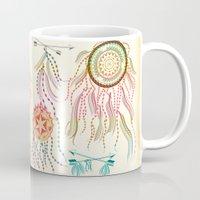 dream catcher Mugs featuring Dream Catcher by famenxt