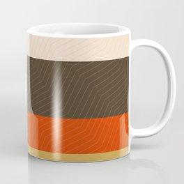 Retro Zigzag Geometric Pattern Coffee Mug