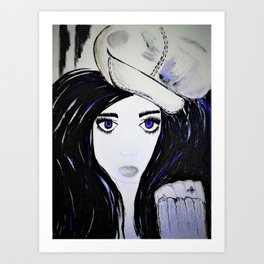 Melinda. Illustrated from the book Tempting Tempo by Author Michelle Mankin. Art Print