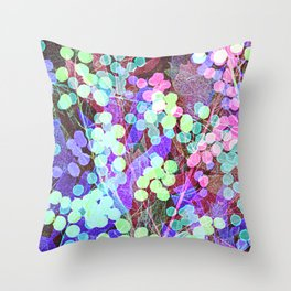 Dots & Leaves. Throw Pillow