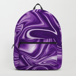Trendy ultra violet liquid marble texture. Bright color of 2018 design. Backpack