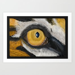 The Tiger Eye Art Print