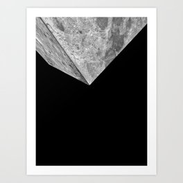 The Invasion of the Cubical Moon Art Print