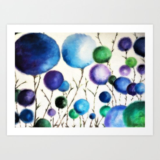 Cotton Balls Art Print