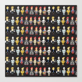 Bowie pixel characters Canvas Print