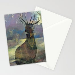 """""""White Tail Deer"""" Stationery Cards"""