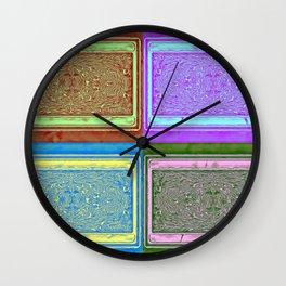 No' 24 Retro Patterns Wall Clock
