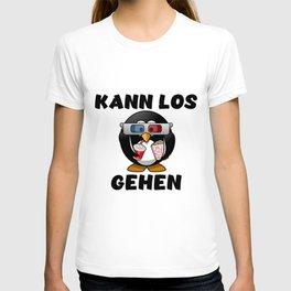 Lustiges Pinguin Motiv - Pinguin mit 3D Brille im Kinosaal T-shirt