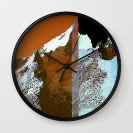 Twin Peak_fire&ice Wall Clock