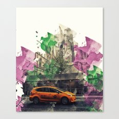 NYC Cab Paint Splatter Canvas Print