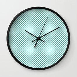 Turquoise Polka Dots Wall Clock