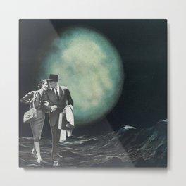 Moon Strolling Metal Print