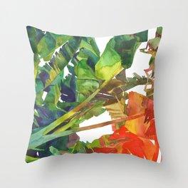 Bananas leaves Throw Pillow