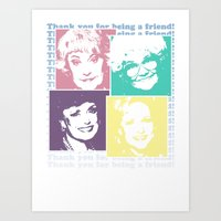golden girls Art Prints featuring The Golden Girls by gamunev