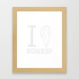 I love archaeology #3 Framed Art Print
