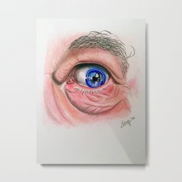 Old man blue eye Metal Print