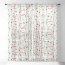 Atomic Oasis - Vertical Sheer Curtain