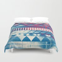 ice cream Duvet Covers featuring Ice Cream by acefecoo