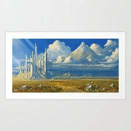 White Kingdom Art Print