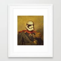 stormtrooper Framed Art Prints featuring Stormtrooper  by Alex Malyon