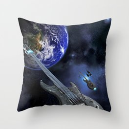 First Contact Throw Pillow