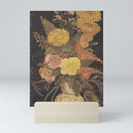 Vincent van Gogh - Vase with asters, salvia and other flowers Mini Art Print