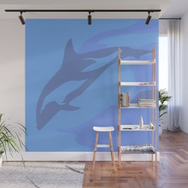 Dolphin Background Wall Mural