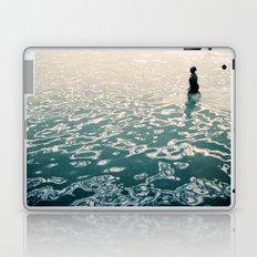 Lady in swimming pool Laptop & iPad Skin