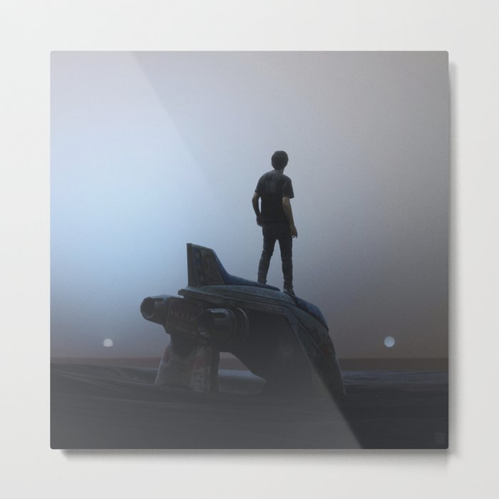 SpaceShip Metal Print