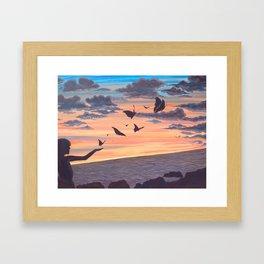 Love Flight Framed Art Print