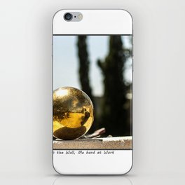 The Ball on the Wall iPhone Skin