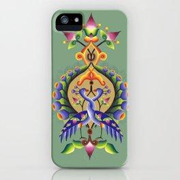 Peacock Illumination iPhone Case