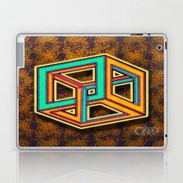 DIFORCE #3 Impossible Triangle Psychedelic Optical Illusion Laptop & iPad Skin