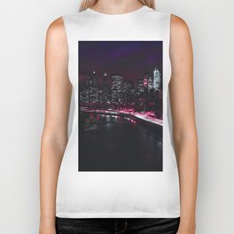 Red New York City Biker Tank