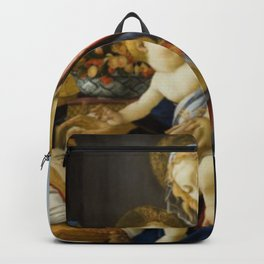 Sandro Botticelli The Virgin and Child Painting Backpack