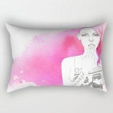 Little Trouble Girl Rectangular Pillow