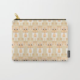 Super cute animals - Cheeky White Monkey Carry-All Pouch