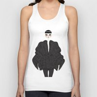 goth Tank Tops featuring Elegant goth by \nicolafleming