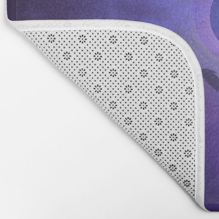 The Owl and the Purple Moon Bath Mat