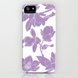 Magnolia Bouquet seamles pattern iPhone Case